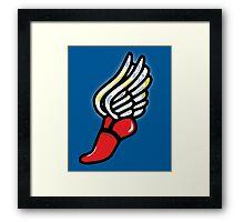 Athlete Shoe Framed Print