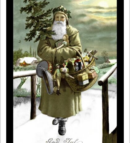 God Jul Vintage Santa Sticker