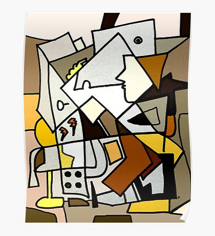 After Picasso - Cubist Theory Poster