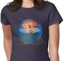 Dragonfly Flower Womens Fitted T-Shirt