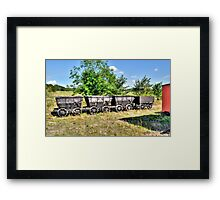 mine carts Framed Print