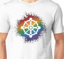 LGBT Buddhist Wheel of Dharma  Unisex T-Shirt