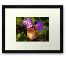 Lilies and Singing Bowl Framed Print