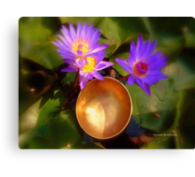 Lilies and Singing Bowl Canvas Print