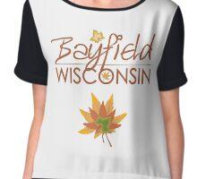 Bayfield Wisconsin Fall Colors Chiffon Top