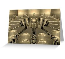 Golden Fractal #1 Greeting Card