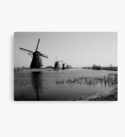 Nostalgic Windmills Canvas Print