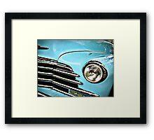 Blue Chevrolet truck headlight Framed Print
