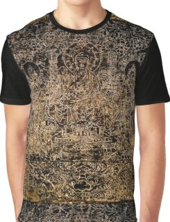 Buddhist Carving Graphic T-Shirt