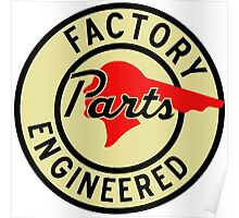 Pontiac Factory Parts vintage sign Poster
