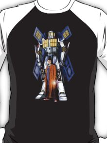 Giant Robot Phone Box with The Doctor T-Shirt