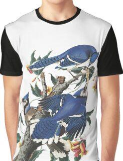 Blue Jay - John James Audubon Graphic T-Shirt
