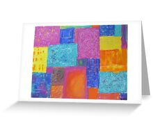 Rectangle Texture Painting Greeting Card