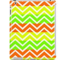 trendy neon zigzags iPad Case/Skin