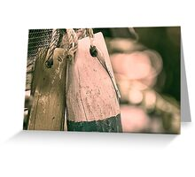 Fishing floats Greeting Card
