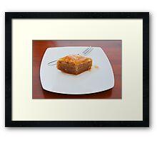 Baklava on White Plate Framed Print