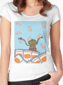 Clarence raining - The Big Lez Show Women's Fitted Scoop T-Shirt
