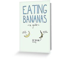 Eating Bananas: A Guide Greeting Card