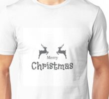 Christmas reindeer silhouettes. Unisex T-Shirt