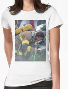 A Much Needed Break for a Firefighter Womens Fitted T-Shirt