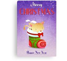 Xmas Christmas Stocking Canvas Print