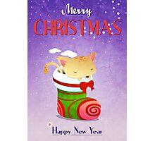 Xmas Christmas Stocking Photographic Print