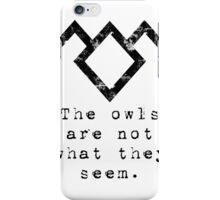 Suspicious owls iPhone Case/Skin