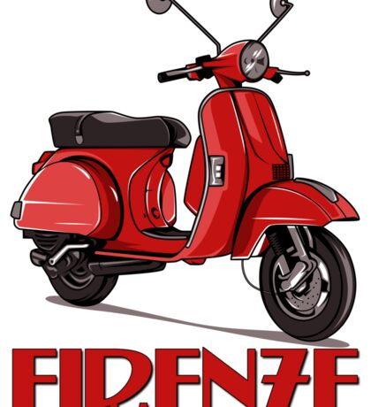 FIRENZE - Florence Italy - Scooter! Sticker