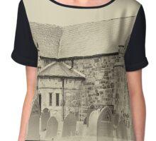 St Nidans Church Anglesey Chiffon Top