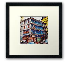 The Blue House, Wanchai Framed Print