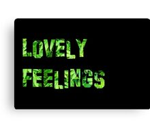 Lovely Feelings Canvas Print