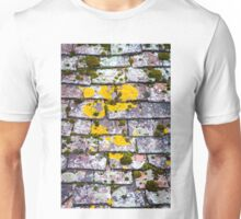 Background of old roof covered with tiles Unisex T-Shirt