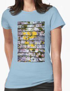 Background of old roof covered with tiles Womens Fitted T-Shirt