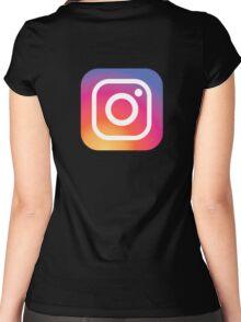 New Instagram LOGO Women's Fitted Scoop T-Shirt