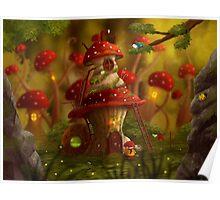 Mushroom story Poster
