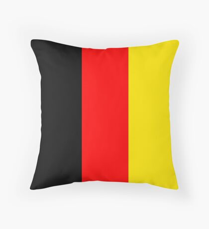 Belgium National Flag Black Red and Yellow Bands Throw Pillow
