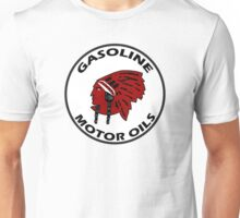 Red Indian Gasoline vintage sign reproduction Unisex T-Shirt