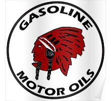 Red Indian Gasoline vintage sign reproduction Poster