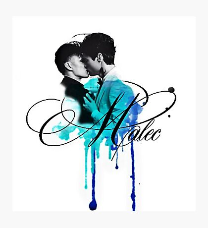 Malec kiss (blue) Photographic Print