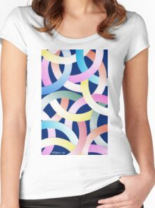 PLAYFUL PASTEL Women's Fitted Scoop T-Shirt