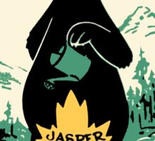 Jasper National Park Alberta Vintage Travel Decal Sticker