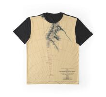 Map of Antarctic 1909 Graphic T-Shirt
