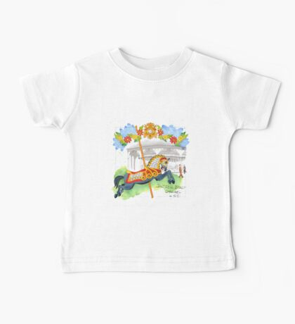Jantzen Beach Carousel Roman Horse Baby Tee