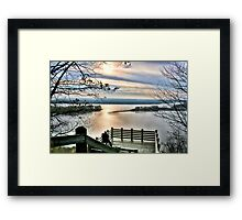 Sunset on the Mississippi (Eagle Lookout, Savanna IL) Framed Print