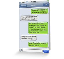 Outlander Today Jamie & Claire Texts: Best Of Greeting Card