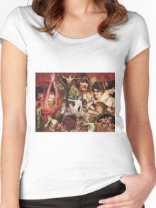Original Retro Collage Women's Fitted Scoop T-Shirt