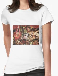 Original Retro Collage Womens Fitted T-Shirt