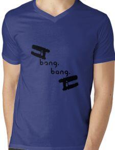 Bang. Bang. Mens V-Neck T-Shirt