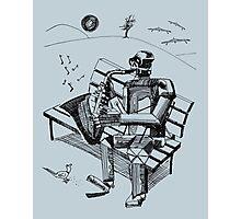 Robot Sax Photographic Print