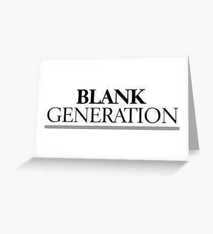 Rock Punk Generation Revoution Greeting Card